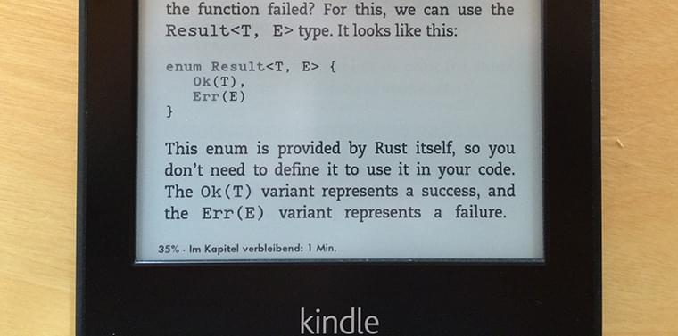 Image #1 for The Rust Programming Language as EBook